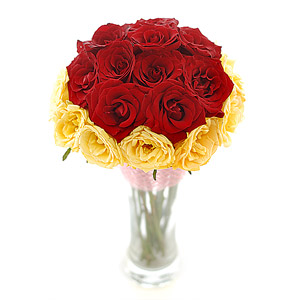 20 red yellow roses vase j k florist 20 red yellow roses vase mightylinksfo