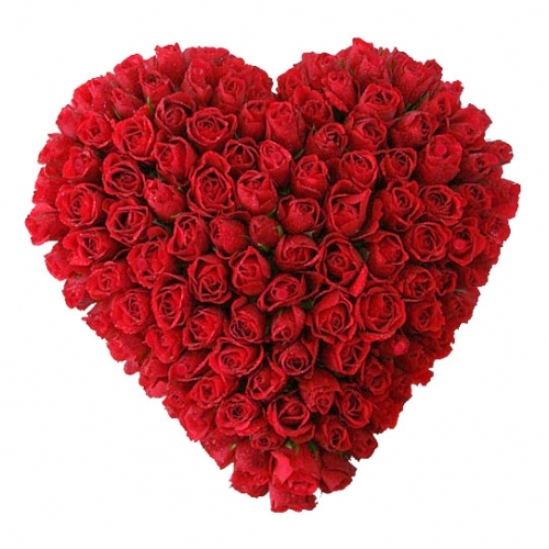100 Red Roses Big Full Heart Shape Arrangement J K Florist