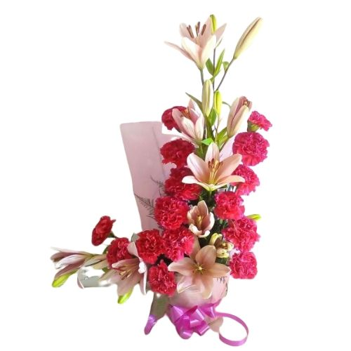 Lilies & Carnations Designer Arrangement