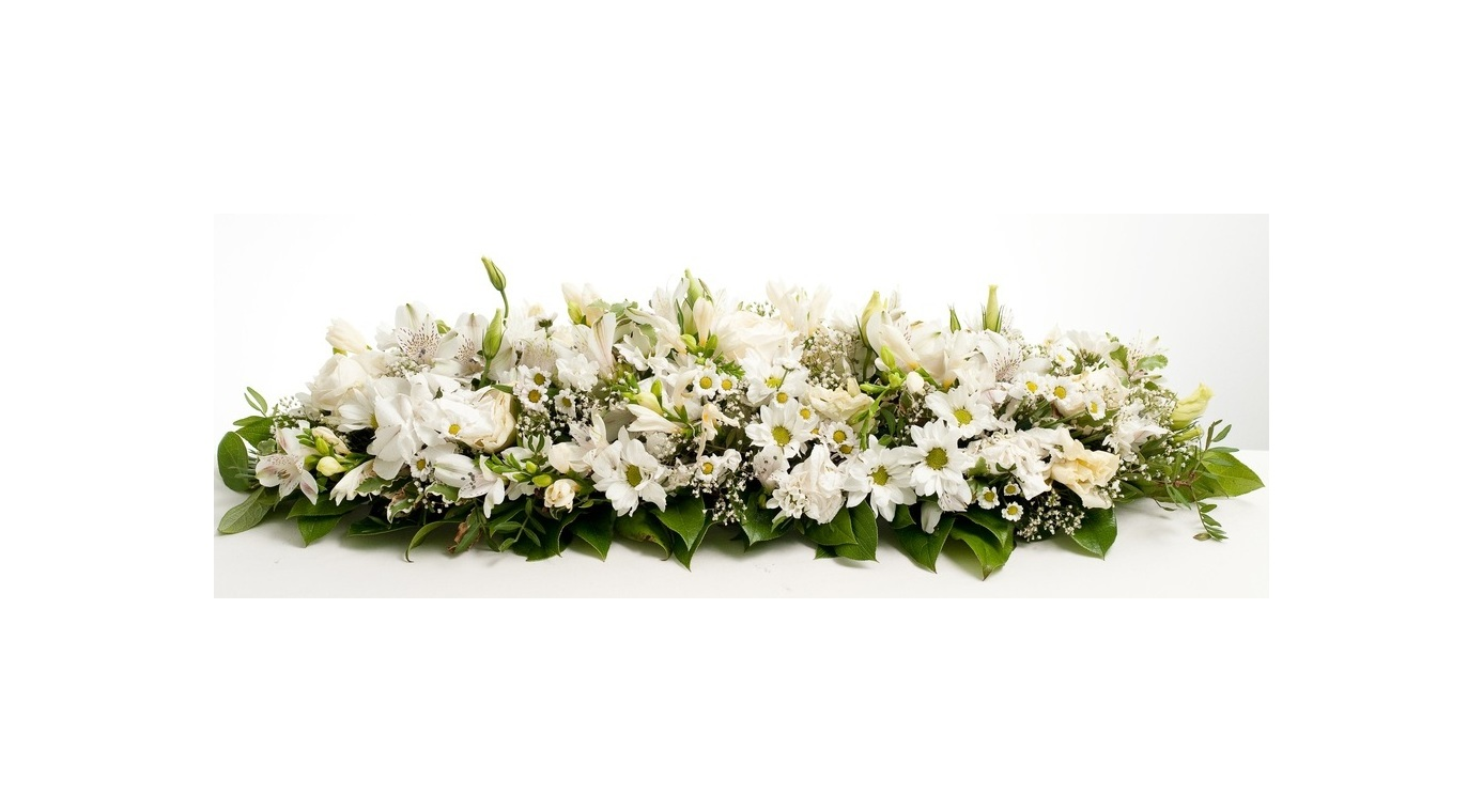 White Flowers Spread Arrangement J K Florist