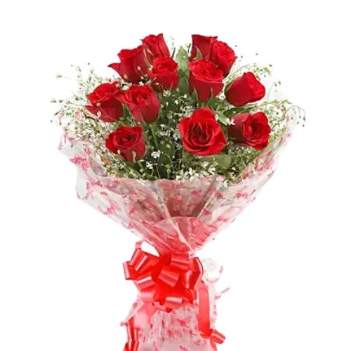 12 Red Roses Simple Bunch