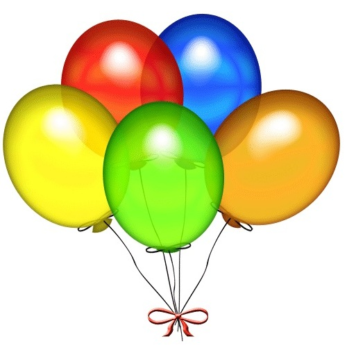 Colorful 5 Balloons Bunch Add On Product For Delivery