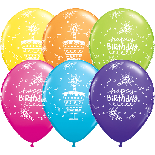 Colorful 5 Pcs Happy Birthday Balloons Bunch ADD ON PRODUCT