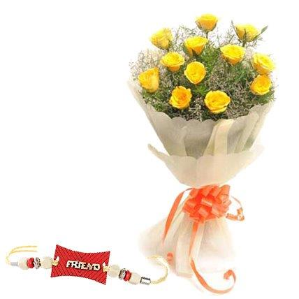 01 bunch of 12 yellow roses friendship band j k florist 01 bunch of 12 yellow roses friendship band mightylinksfo