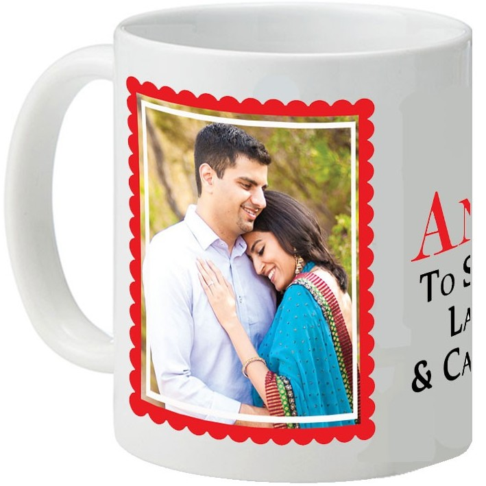A Specially Customized Photo Message Printed White Mug Love Special
