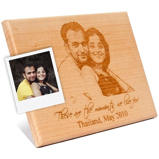 A Specially Customized Photo Amp Message Engraved Wooden