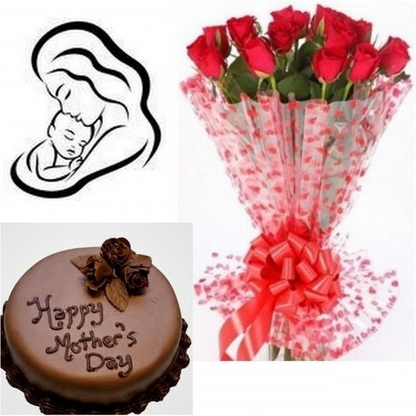 mothers day flowers & cake