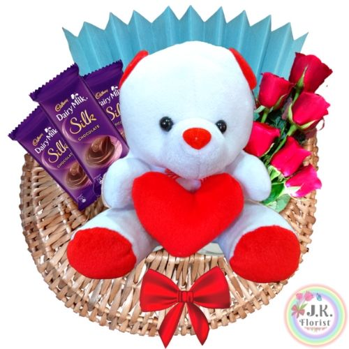 Cute Teddy Basket