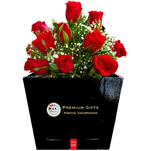 PREMIUM Box Filled with 12 RR Roses